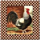 Primitive Country Folk Art Kitchen Refrigerator Magnet - Country Rooster #2