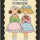 Primitive Country Folk Art Kitchen Refrigerator Magnet - Best Friends Forever