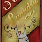 Primitive Country Folk Art Kitchen Refrigerator Magnet - Laundry Days