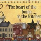 Primitive Country Folk Art Kitchen Refrigerator Magnet -The Heart of the Home #2