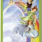 Beautiful Fun Decor Design Collectible Kitchen Fridge Magnet - Fairy Rainbow