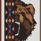 Cross-Stitch Embroidery Color Pattern with DMC codes -  Beautiful Native Bear