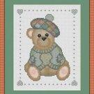 Cross-Stitch Embroidery Color Digital Pattern w. DMC codes - Scottish Teddy Bear