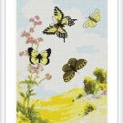 Cross-Stitch Embroidery Color Digital Pattern w. DMC codes - Butterfly Dance #2