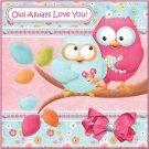 Primitive Country Folk Art Kitchen Refrigerator Magnet - Owl Always Love You #2