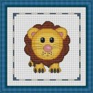 Cross-Stitch Embroidery Color Pattern with DMC codes - Cute Baby Lion