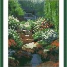 Cross-Stitch Embroidery Color Pattern with DMC thread codes - Secret Garden