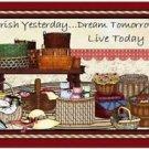 Primitive Country Folk Art Kitchen Refrigerator Magnet - I love Baskets! #5