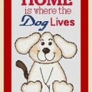 Cross-Stitch Embroidery Color Pattern with DMC codes - Home is where the dog ...