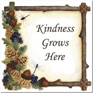 Primitive Country Folk Art Kitchen Refrigerator Magnet - Kindness Grows Here