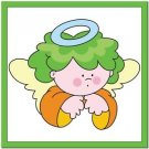 Beautiful Cute Decor Design Collectible Kitchen Fridge Magnet - Green Hair Angel
