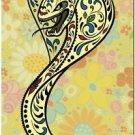 Decor Collectible Kitchen Fridge Magnet - Flower Sugar Skull Snake