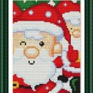 Cross-Stitch Embroidery Color Pattern with DMC thread codes - Happy Santas