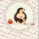 Beautiful Cute Decor Collectible Kitchen Fridge Magnet ~ Knitting Hedgehog