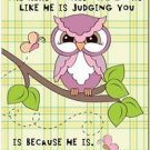 Beautiful Fun Decor Design Collectible Kitchen Fridge Magnet - Judgy Funny Owl