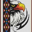 Cross-Stitch Embroidery Color Pattern with DMC codes -  Beautiful Native Eagle
