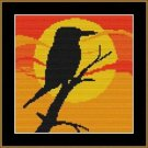 Cross-Stitch Color Embroidery Pattern with DMC codes - Sunset Kingfisher