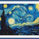 Cross-Stitch Embroidery Color Pattern with DMC codes -The Starry Night Van Gogh