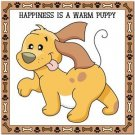 Beautiful Cute Decor Collectible Kitchen Fridge Magnet - Happiness is a Puppy