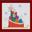 Cross-Stitch Embroidery Color Pattern with DMC thread codes - Stick Angel