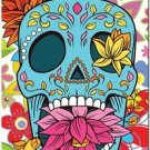 Decor Collectible Kitchen Fridge Magnet - Flower Sugar Skull #8