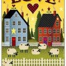 Primitive Country Folk Art Kitchen Refrigerator Magnet - Love Joy Peace