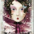 Primitive Country Folk Art Kitchen Refrigerator Magnet ~ Fantasy Card Ladies #6