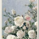 Beautiful Vintage Decor Collectible Kitchen Fridge Magnet - White Roses
