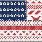 Beautiful Decor Design Collectible Kitchen Fridge Magnet - Patchwork US Flag