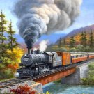 Train Locomotive Collectible Fridge Magnet - October Travel