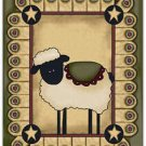 Primitive Country Folk Art Kitchen Refrigerator Magnet - Prim Country Sheep