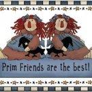 Primitive Country Folk Art Kitchen Refrigerator Magnet - Prim Friends Annies