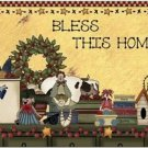 Primitive Country Folk Art Kitchen Refrigerator Magnet - Bless This Home #3