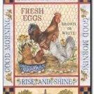 Primitive Country Folk Art Kitchen Refrigerator Magnet - Vintage Eggs Label