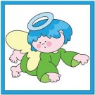 Beautiful Cute Decor Design Collectible Kitchen Fridge Magnet ~ Blue Hair Angel