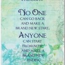 Beautiful Quote Decor Design Collectible Kitchen Fridge Magnet - No One Can Go..
