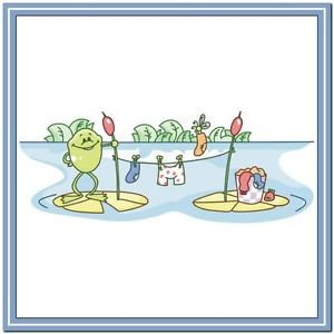 Beautiful Cute Decor Collectible Kitchen Fridge Magnet - Life of Frog Family #4