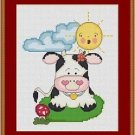 Cross-Stitch Embroidery Color Pattern with DMC codes - Life in the Farm #2