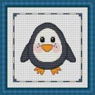 Cross-Stitch Embroidery Color Pattern with DMC codes - Cute Baby Penguin
