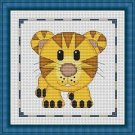Cross-Stitch Embroidery Color Pattern with DMC codes - Cute Baby Tiger