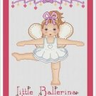 Cross-Stitch Embroidery Color Pattern with DMC codes -  Little Ballerina