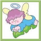 Beautiful Cute Decor Design Collectible Kitchen Fridge Magnet - Angel on a Leaf