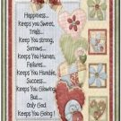 Primitive Country Folk Art Kitchen Refrigerator Magnet -Happiness Keeps You...#2