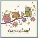 Beautiful Decor Design Collectible Kitchen Fridge Magnet - You are Owlsome!