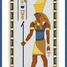 Cross-Stitch Embroidery Color Pattern with DMC codes - Horus, the God of Kings