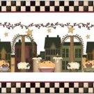 Primitive Country Folk Art Kitchen Refrigerator Magnet - Prim Candles & Houses