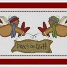 Cross-Stitch Embroidery Color Pattern with DMC thread codes - Peace on Earth
