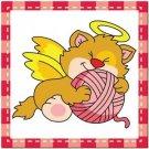 Beautiful Cute Decor Collectible Kitchen Fridge Magnet - Sleeping Angel Cat