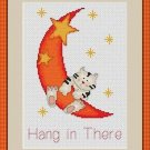 Cross-Stitch Embroidery Color Pattern with DMC codes - The Moon Cat