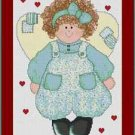 Cross-Stitch Embroidery Color Pattern with DMC codes - Cute Love Angel